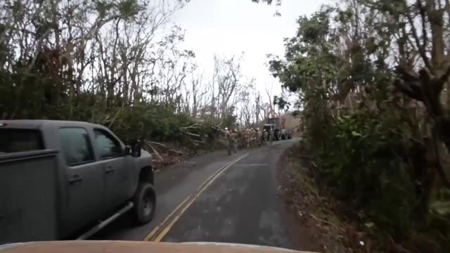 st john in the virgin islands in the aftermath of hurricane irma - st. john virgin islands stock videos & royalty-free footage