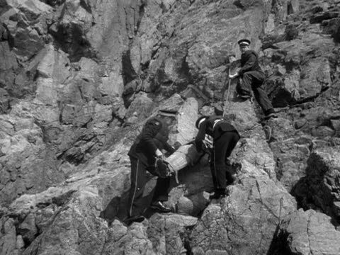 st johns ambulance officers carefully lower an injured man from a cliff during an emergency drill on guernsey. - guernsey stock videos & royalty-free footage