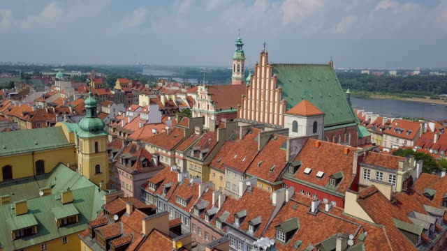 st. john's archcathedral,old town center, warsaw - warsaw stock videos & royalty-free footage