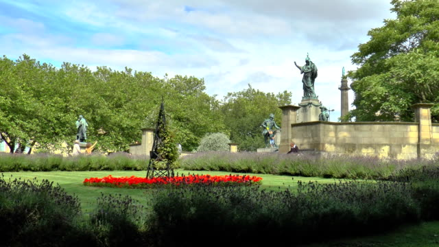 st john's gardens - liverpool, england - english culture stock videos & royalty-free footage