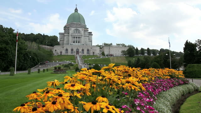 st joseph oratory in summer, montreal, quebec - local landmark stock videos and b-roll footage
