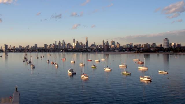 st kilda marina, melbourne, victoria, australia - tourism stock videos & royalty-free footage