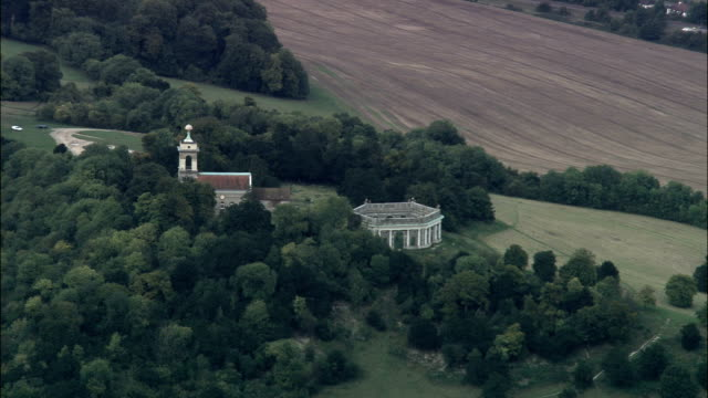 st lawrence church and mausoleum - aerial view - england, windsor and maidenhead, bisham, united kingdom - berkshire england stock videos and b-roll footage