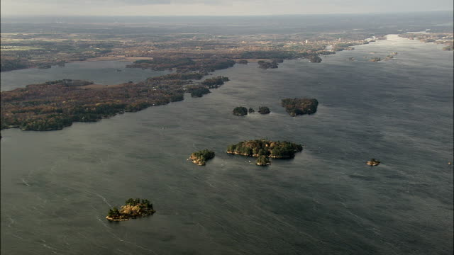 St Lawrence river and islands - Aerial View - New York,  St. Lawrence County,  United States