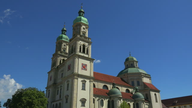 st. lorenz basilica at residenzplatz, kempten, swabia, bavaria, germany - catholicism stock videos & royalty-free footage