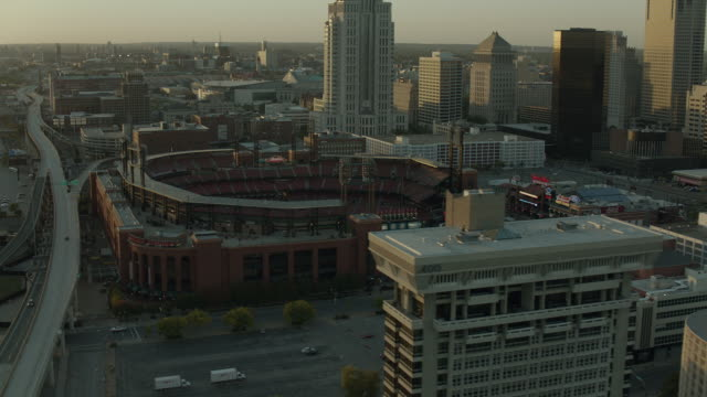 St Louis Busch Stadium And Downtown