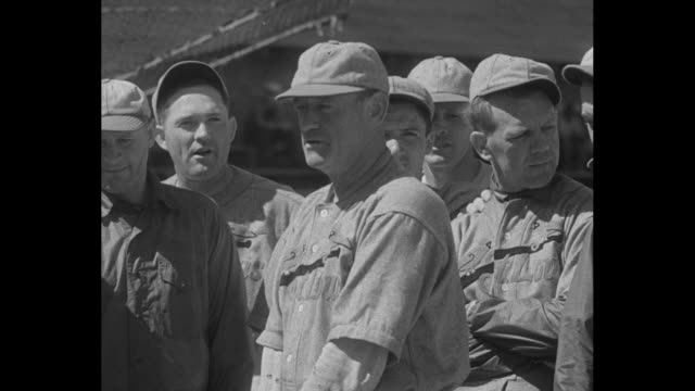 st louis cardinals manager charles gabby street addresses team / [vo street throughout] pitchers jesse haines jay dizzy dean jim mooney / pitcher ted... - spring training stock videos & royalty-free footage
