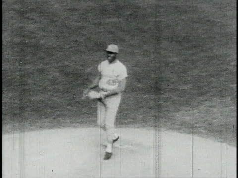 St Louis Cardinals pitcher Bob Gibson throwing ball from pitcher's mound / Fenway Park Boston Massachusetts United States