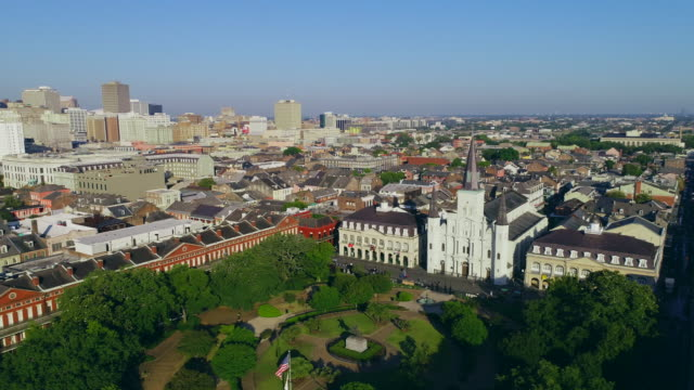 St. Louis Cathedral New Orleans aerial