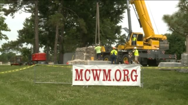 KTVI St Louis city crews completed the removal of the monument the Confederate Memorial in Forest Park on June 28 2017 The removal began on June 8...