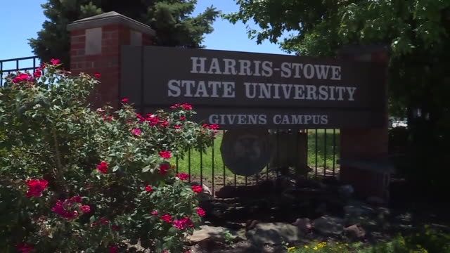 vídeos y material grabado en eventos de stock de ktvi st louis mo u s exteriors of harrisstowe state university in st louis on thursday july 28 2020 - escritura occidental