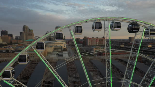 st. louis, mo, u.s. - drone view of ferris wheel at st. louis union station, on sunday, january 5, 2020. - st. louis missouri stock videos & royalty-free footage