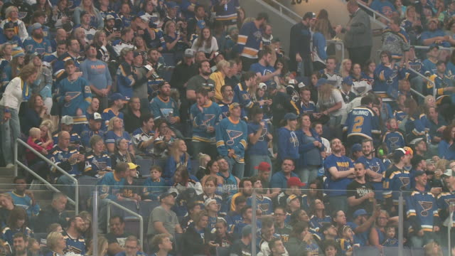 ktvi st louis mo us st louis blues fans watching the broadcast of stanley cup game 7 from enterprise center as the blues beat the boston bruins 41 in... - blues stock videos & royalty-free footage