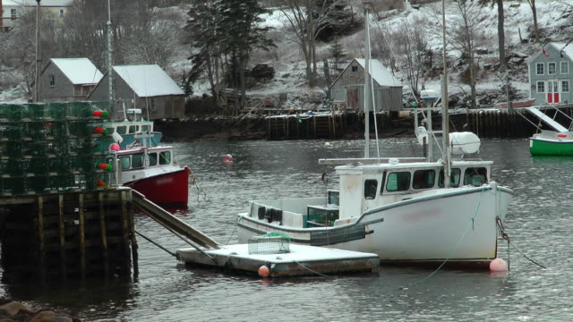 st. margaret's bay on winter day - nova scotia stock videos & royalty-free footage