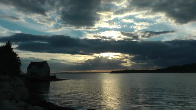 st. margaret's bay time lapse - nova scotia stock videos and b-roll footage