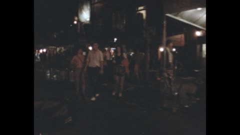 1985 nyc - st marks place at night - greenwich village stock videos & royalty-free footage