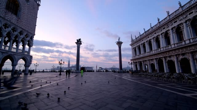 St. Marks Square and Palazzo Ducale in the morning, Venice, Venetian Lagoon, Veneto, Italy