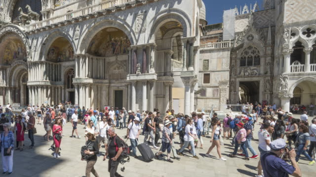 st. mark's square in venice - piazza venezia stock videos and b-roll footage