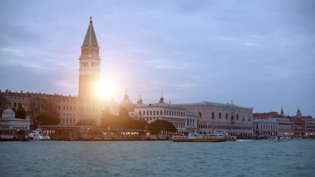 st. mark's square in venice with sun - venice italy stock videos & royalty-free footage