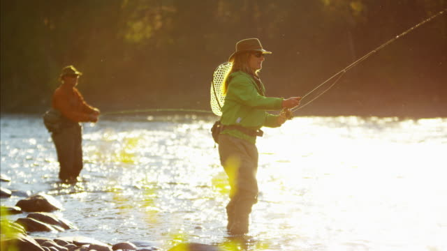 St Mary River female male fly fishing Canada