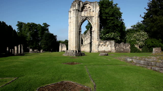 st mary's abbey,york - circa 12th century stock videos & royalty-free footage