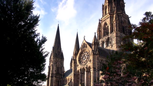 st mary's cathedral - edinburgh, scotland - scottish culture stock videos & royalty-free footage