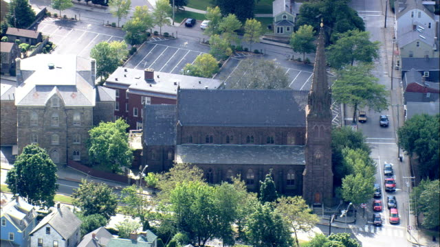 St Mary's Church  - Aerial View - Rhode Island, Newport County, United States