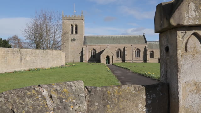 st marys church at cuckney, nottinghamshire, england, uk, europe - circa 12th century stock videos and b-roll footage