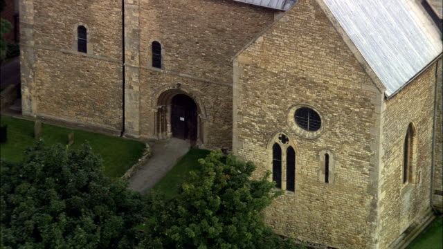 St Mary's Church In Stow  - Aerial View - England, Lincolnshire, West Lindsey District, United Kingdom