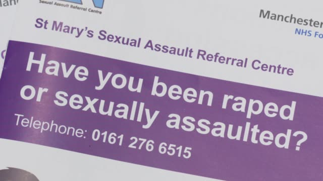 st mary's sexual assault referral centre general views; england: manchester: st mary's hospital: int various of st mary's centre sexual assault... - pamphlet stock videos & royalty-free footage