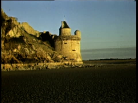 stockvideo's en b-roll-footage met 1944 montage st michael's mount / france - b roll