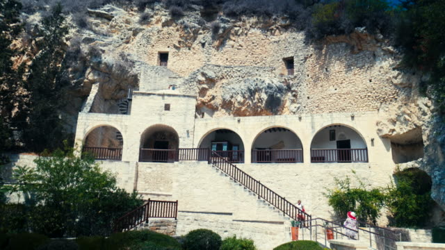 聖 neophytos 修道院キプロス - 社会史点の映像素材/bロール