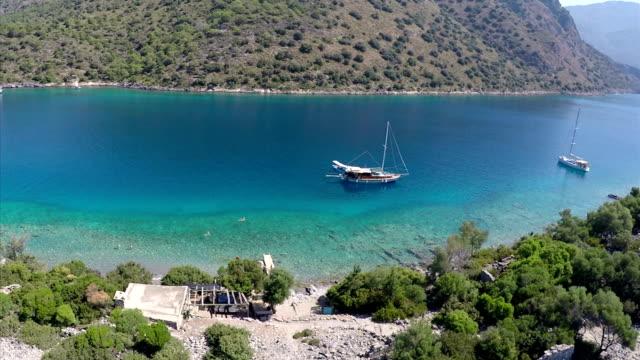 St. Nicholas island & Gemiler bay from Oludeniz. Fethiye / Turkey.