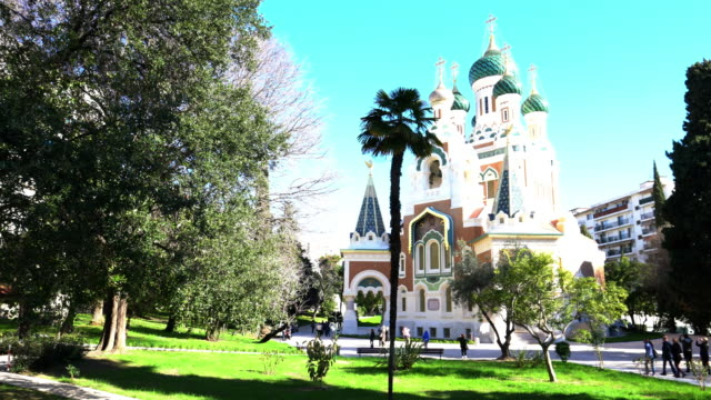 st nicholas orthodox cathedral - cathedral stock videos & royalty-free footage