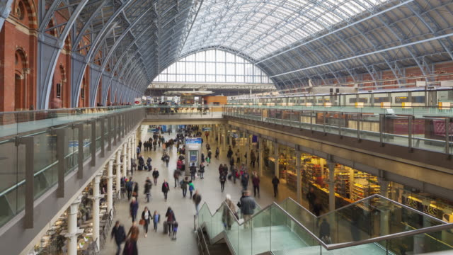 St Pancras International railway station, London.