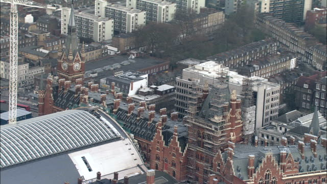 St Pancras Station  - Aerial View - England, Greater London, Camden, United Kingdom