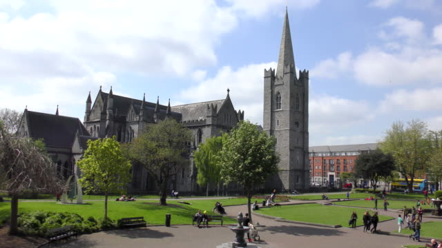 st patricks cathedral - dublin, ireland - cathedral stock videos & royalty-free footage