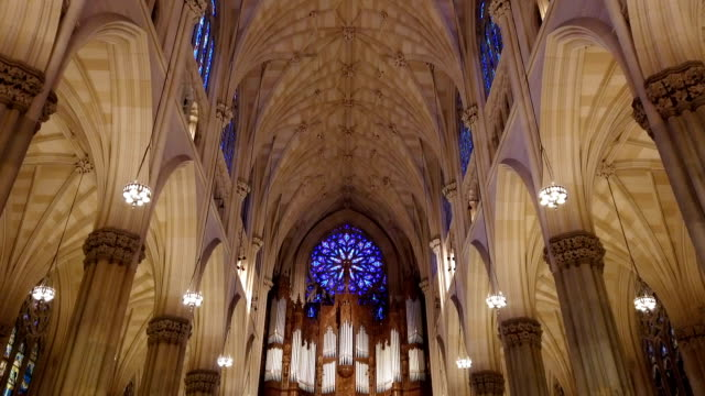 st. patrick's cathedral, manhattan, new york city, usa - gothic style stock videos & royalty-free footage