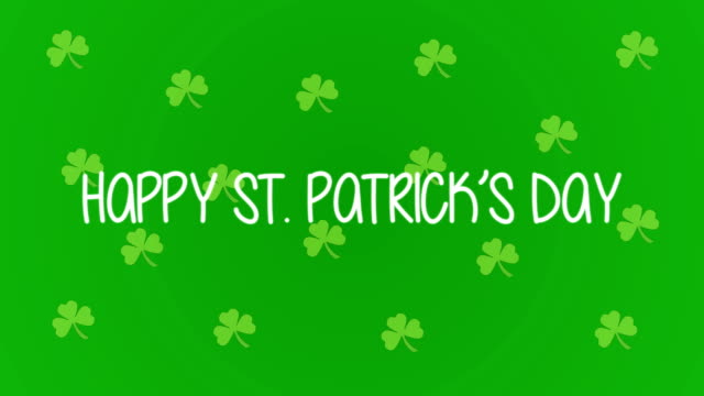 4k st. patrick's day animation |loopable - st. patrick's day stock videos & royalty-free footage