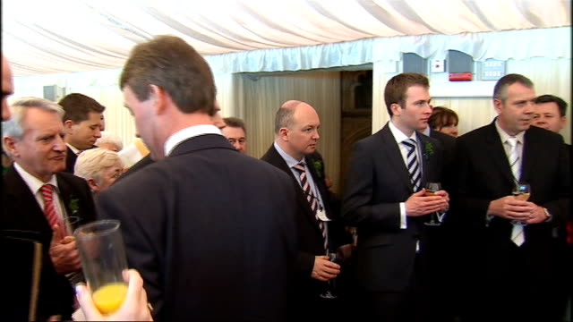 st patrick's day celebrated: gordon brown speech at annual champ reception; england: london: house of lords: int john curran being introduced sot /... - greater london stock videos & royalty-free footage
