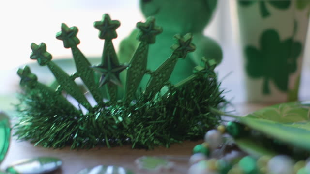 st. patrick's day decorations - st. patrick's day stock videos and b-roll footage