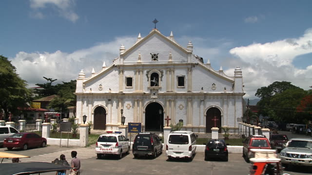 st. paul metropolitan cathedral, vigan, philippines - philippines stock videos & royalty-free footage
