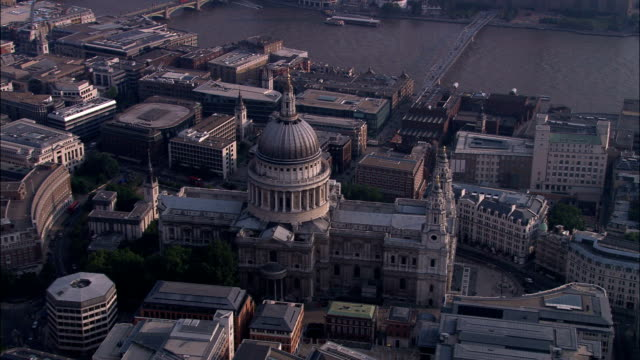 St Paul's Cathedral  - Aerial View - England, Greater London, City of London, United Kingdom