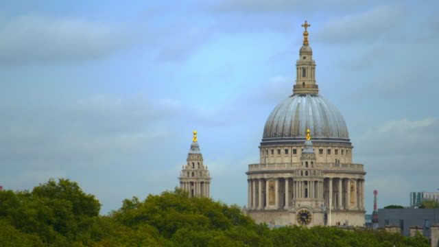 st. paul's cathedral and treetops - treetop stock videos & royalty-free footage