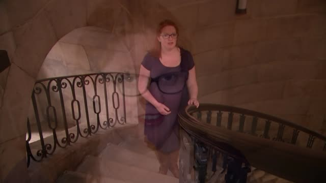 St Paul's Cathedral appoints first female chorister Carris Jones singing 'Amazing Grace' on steps SOT Carris Jones interview SOT Blurred shot Jones...