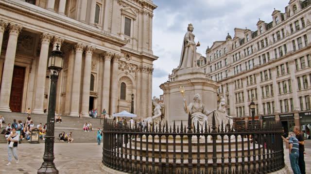 st. paul's cathedral. london. travel. landmark - st. paul's cathedral london stock videos & royalty-free footage