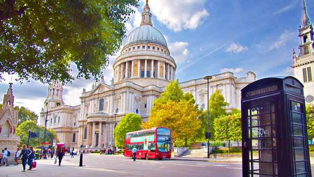 st. paul's cathedral. phone. london - st. paul's cathedral london stock videos & royalty-free footage