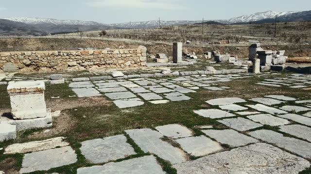 stockvideo's en b-roll-footage met st paul's churh in antiochië van pisidia, yalvac, isparta, turkije - apostel