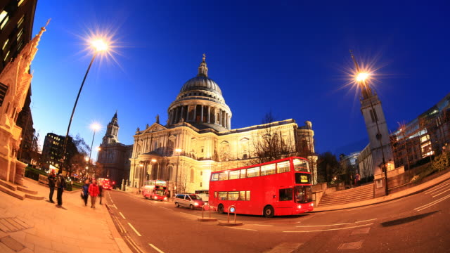 st pauls timelapse video. london 1080 hd - st. paul's cathedral london stock videos and b-roll footage