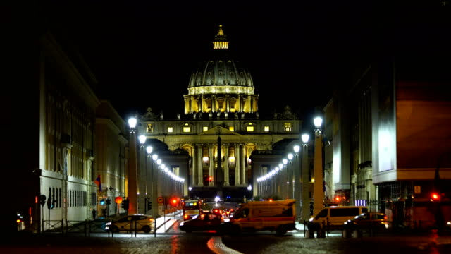 st peter cathedral in rome, italy - avenue stock videos & royalty-free footage